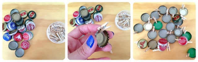Bottle Cap clothespins