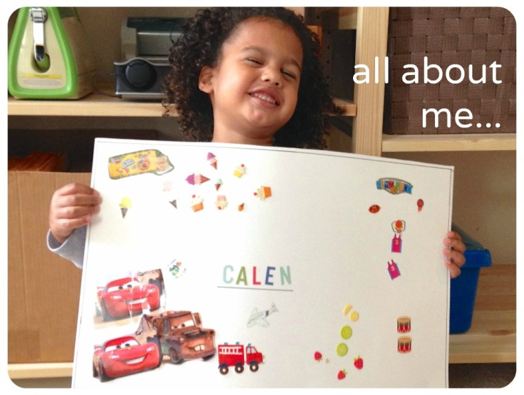 Kid's Project: All About Me posters